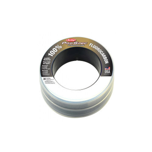 "Berkley ProSpec 100% Fluorocarbon Leader Mat 100 Yards, 0.029"" Diameter, 50 lbs Breaking Strength, Clear"