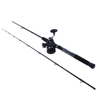 Berkley Big Game Spinning Combo 5.2:1 Gear Ratio 2 Bearings, 8' Length 2pc Rod, Medium/Heavy Power, Ambidextrous