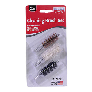 Birchwood Casey 12 Gauge Bronze/Nylon/Mop Brushes Set