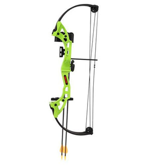 Bear Archery Brave Bow Set in Flo Green with Biscuit- RH
