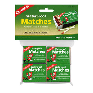 Coghlans Waterproof Matches, Package of  4