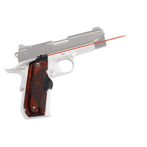 Crimson Trace 1911 Government/Commander Round Heel, Rosewood, Front Activation