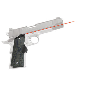 Crimson Trace 1911 Government/Commander G-10 Green/Black LaserGrip Front Activation, Full Size