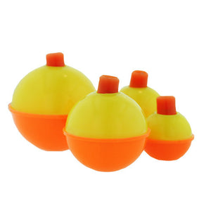 Eagle Claw Snap-On Round Floats, Orange/Yellow Assorted Sizes(Per 12)
