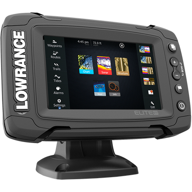 Lowrance ELITE-5 Ti Mid/High/Downscan w/ Navionics+ Fishfinder