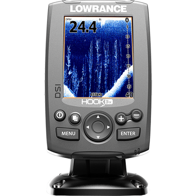 Lowrance Hook-3X DSI Sonar with XDicer 455/800 Fishfinder
