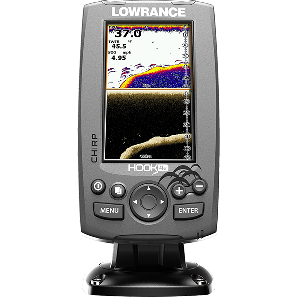 Lowrance Hook-4X Mid/High Fishfinder