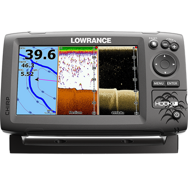 Lowrance Hook-7 Base Sonar GPS Mid/High/Downscan Fishfinder