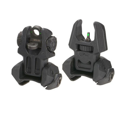 MAKO Front and Rear Set of Flip-up Sights with Tritium - 2 Rear Dots