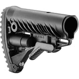 MAKO M4/AR-15 STOCK W/BATTERY STORAGE AND RUBBER BUTTPAD