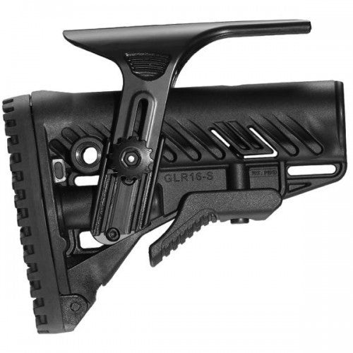 MAKO M4/AR-15 Stock with Adjustable Cheek Riser, Battery Storage & Rubber Buttpad