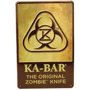 Ka-Bar Zombie Original Sign/Tin