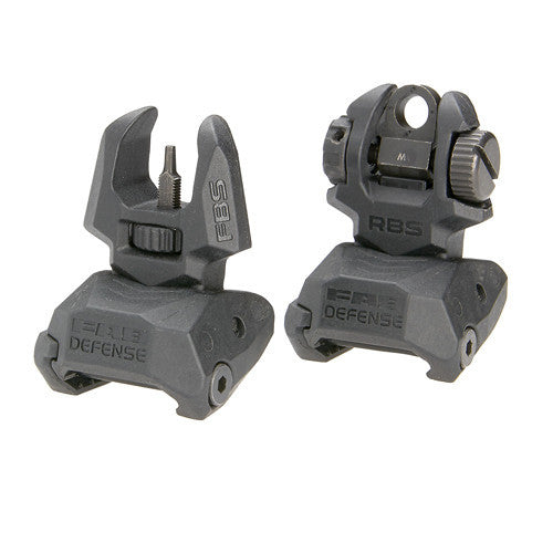 MAKO Front and Rear Set of Flip-up Sights with Tritium - 4 Rear Dots