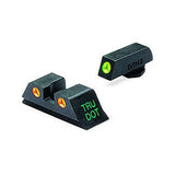 MAKO TRU-DOT NIGHT SIGHTS for GLOCK 9MM, .357 SIG, .40 S&W & .45 GAP Green/Orange