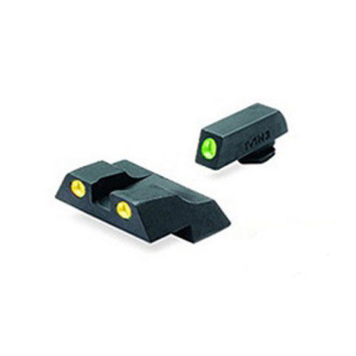 MAKO TRU-DOT NIGHT SIGHTS for GLOCK 10 MM & .45 ACP Green/Yellow