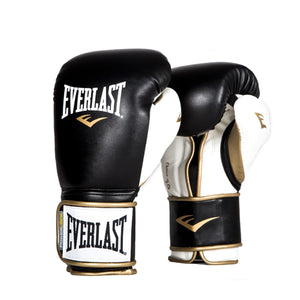 Everlast 14oz Men's Powerlock Hook/Loop Gloves Black-White