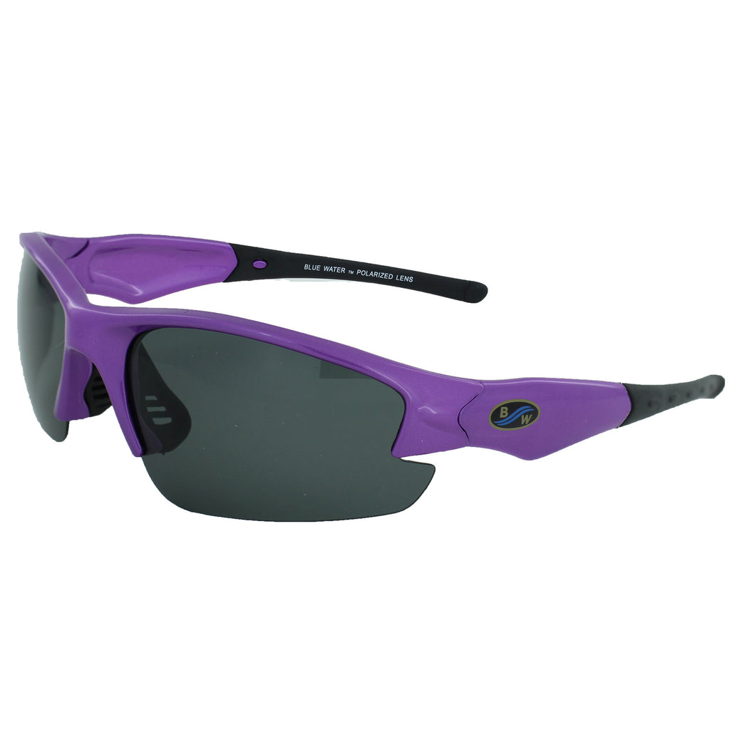 BlueWater Purple Semi Frame with Polarized Grey Lens Eyewear