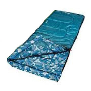 Coleman Boys Youth Rectangle Sleeping Bag Blue/Blue Camo