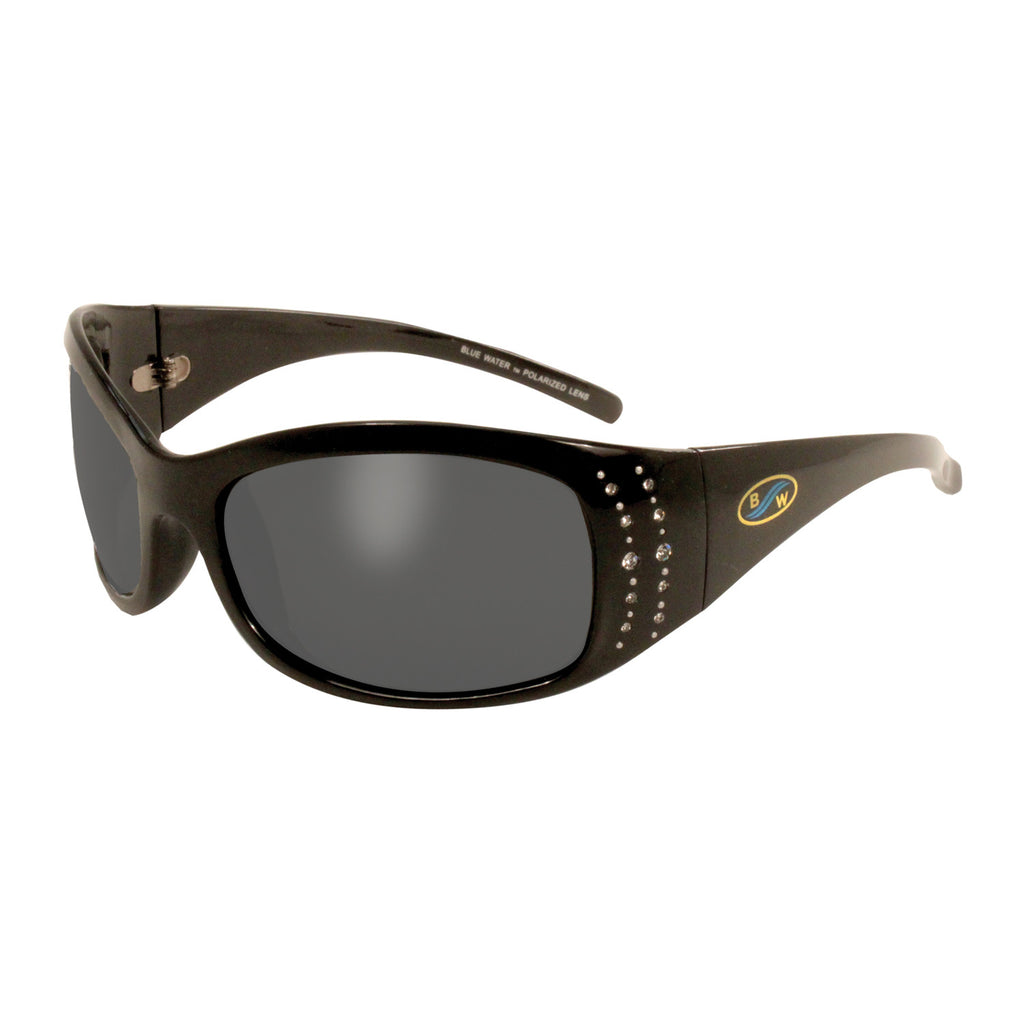 BlueWater Biscayne GR Gloss Black Frame with Rhinestones