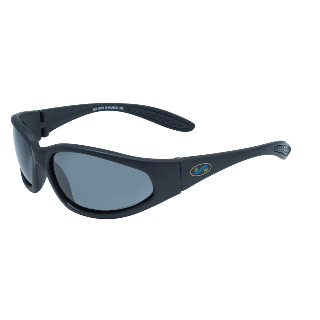 BlueWater Sharx GR Black Nylon Frame-Polarized Grey Lens