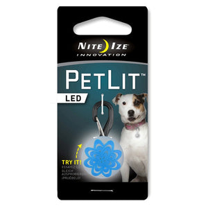 Nite Ize PetLit LED Collar Light Blue Burst