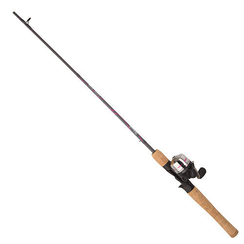 Shakespeare LadyFish Spincast Combo 6' Length, 2 Piece Rod, 6-12 lb Line Rating, Medium Power