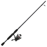 Shakespeare Outcast Spinning Combo 30, 1 Bearing, 6' Length, 2 Piece Rod, 6-12 lb Line Rating, Medium Power