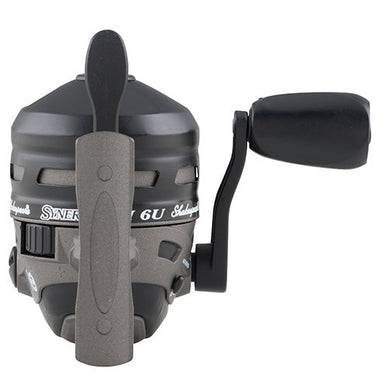 Shakespeare Synergy Ti Spincast Reel 6U Reel Size, 3.4:1 Gear Ratio, 2 Bearings, 6 lb Pre-Spooled, Ambidextrous