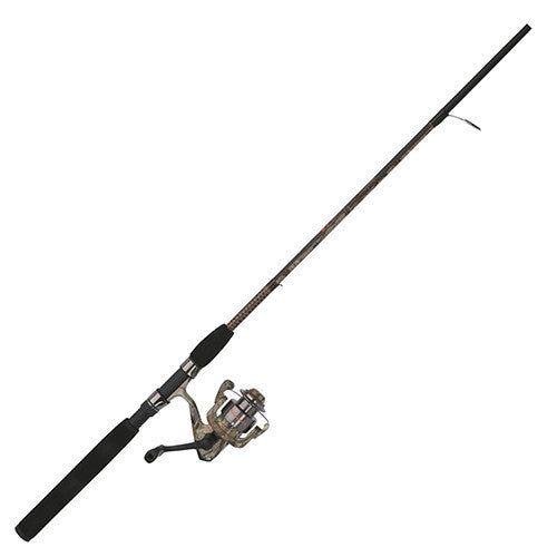 "Shakespeare Ugly Stik Camo Spinning Combo 30 Reel Size, 2 Bearings, 6'6"" 2pc Rod, 6-15 lb Line Rating, Medium Power"