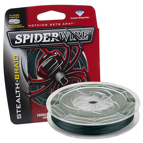 "Spiderwire Stealth Braid Superline Line Spool 200 Yards, 0.008"" Diameter, 10 lbs Breaking Strength, Moss Green"