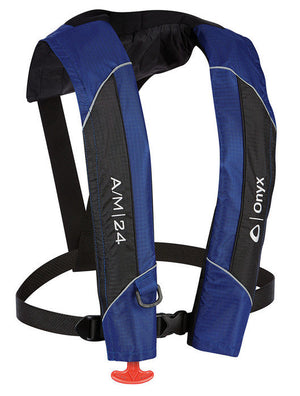 A/M-24 Inflatable Life Jacket (PFD) - Blue/Black