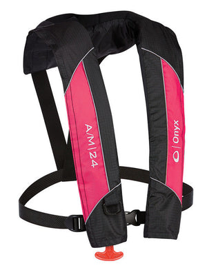 A/M-24 Inflatable Life Jacket (PFD) - Pink/Black