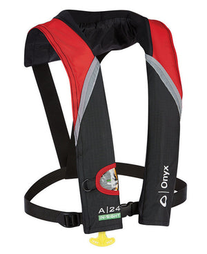A-24 In-Sight Inflatable Life Jacket (PFD) - Red/Black