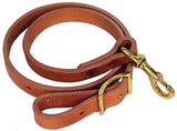 Leather Tie Down - Solid Brass Hardware