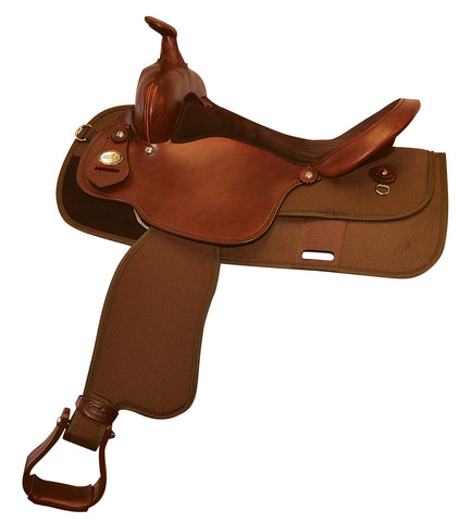 Lightweight Pleasure Saddle with Grain Out Seat