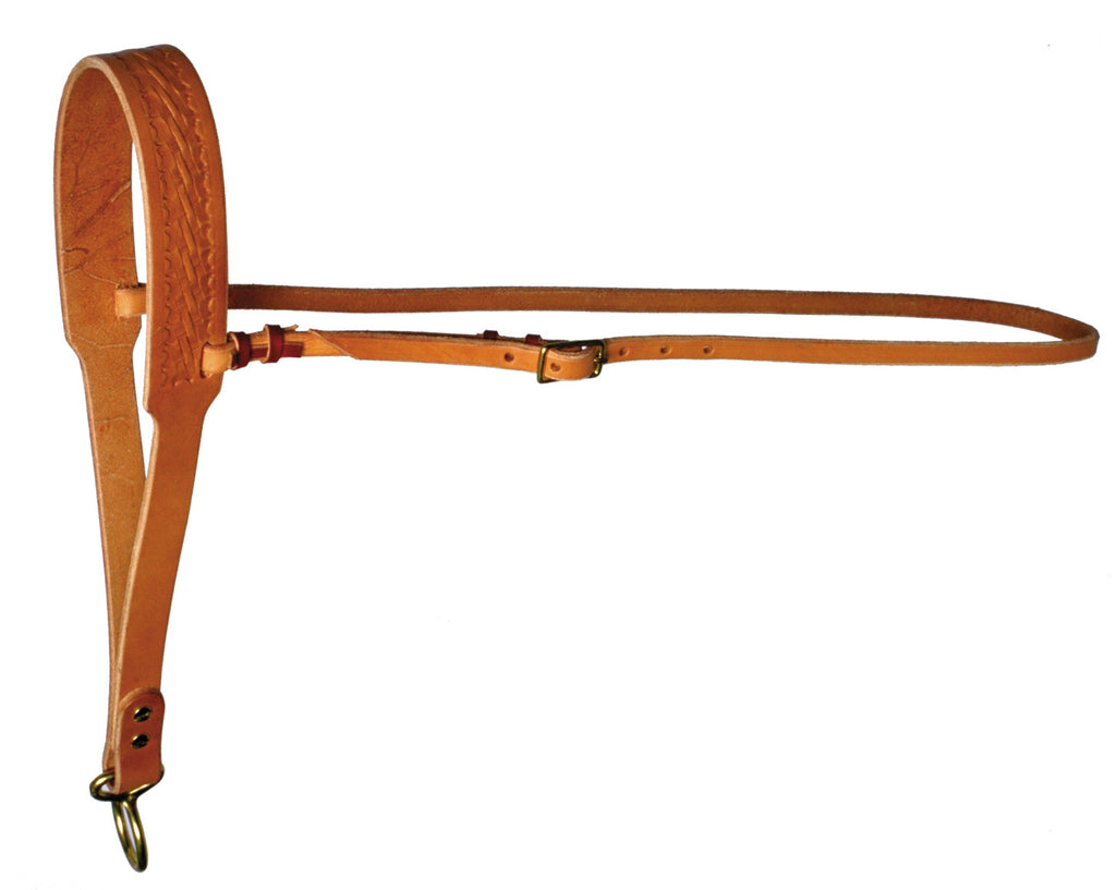 Hand-Tied Over-the-Nose Bosal Harness Leather