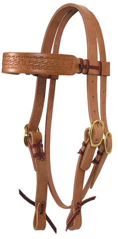 Hand-Tied & Embossed Harness Leather