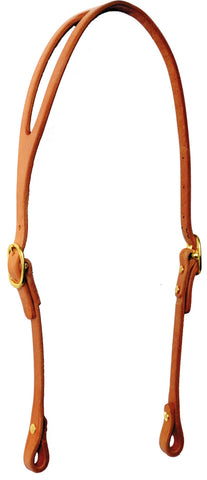 Shaped-Ear Harness Leather Headstall