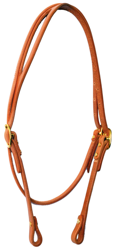 Throat Latch Shaped-Ear Harness Leather Headstall