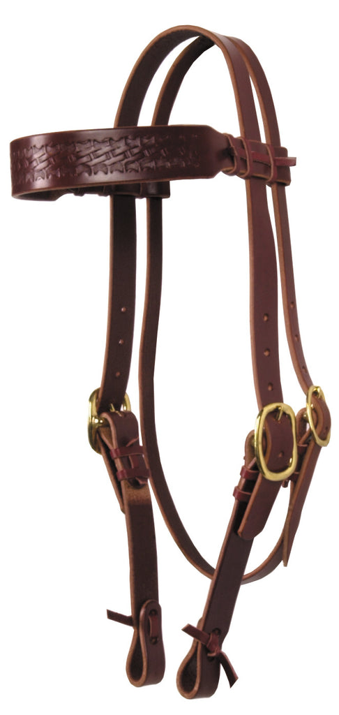 Hand-Tied & Embossed Bridle Leather