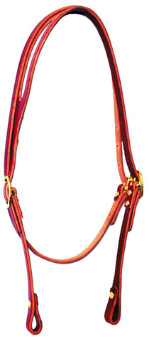 Throat Latch Shaped-Ear Bridle Leather Headstall
