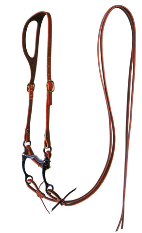 Ear-Shaped Leather Bridle