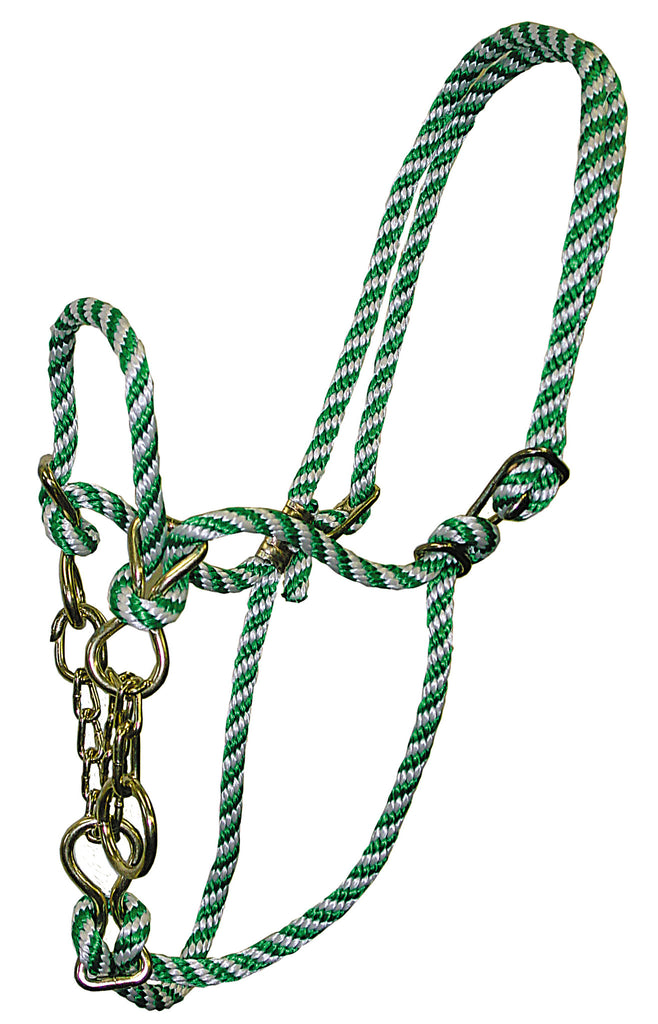 Poly Rope Cow Halter with Chain