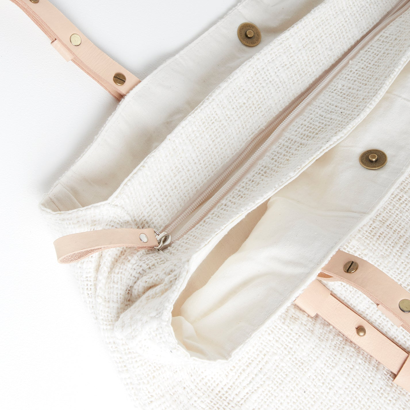 Corsica Linen Style Bag, Closure | Betsy & Floss