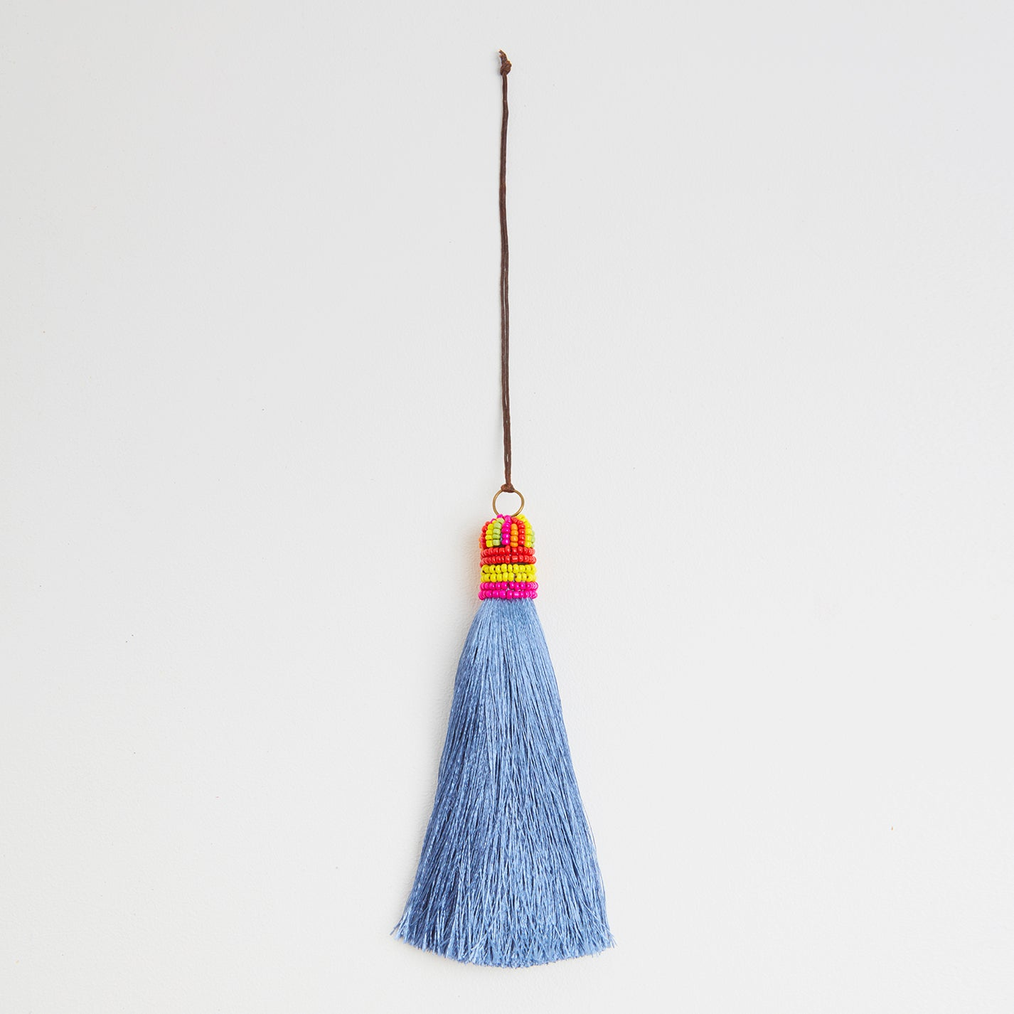 Blue Grey Silk Bag Tassel | Betsy and Floss