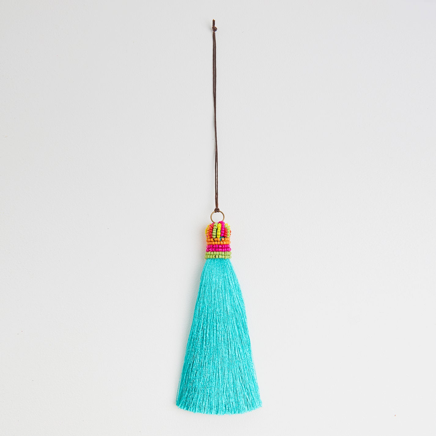Green Silk Bag Tassel | Betsy and Floss