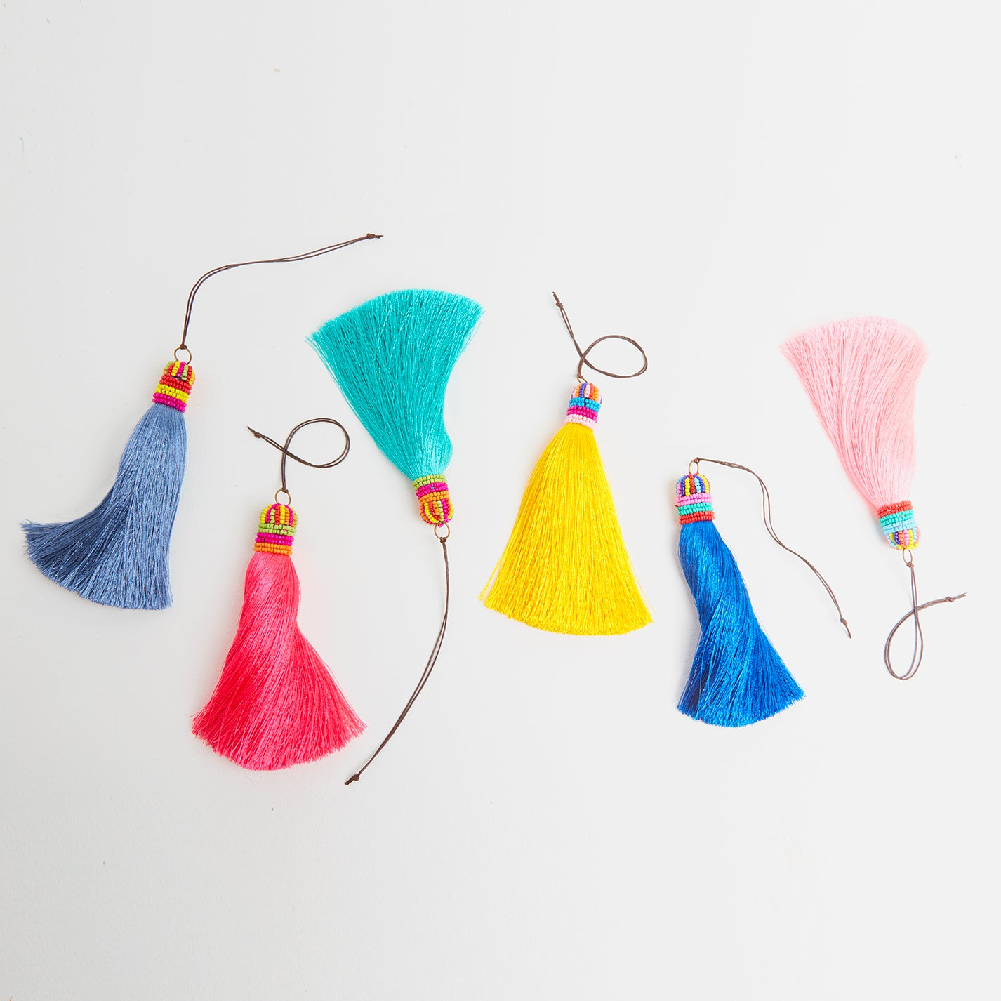 Silk and Bead Tassels for Bags | Betsy & Floss