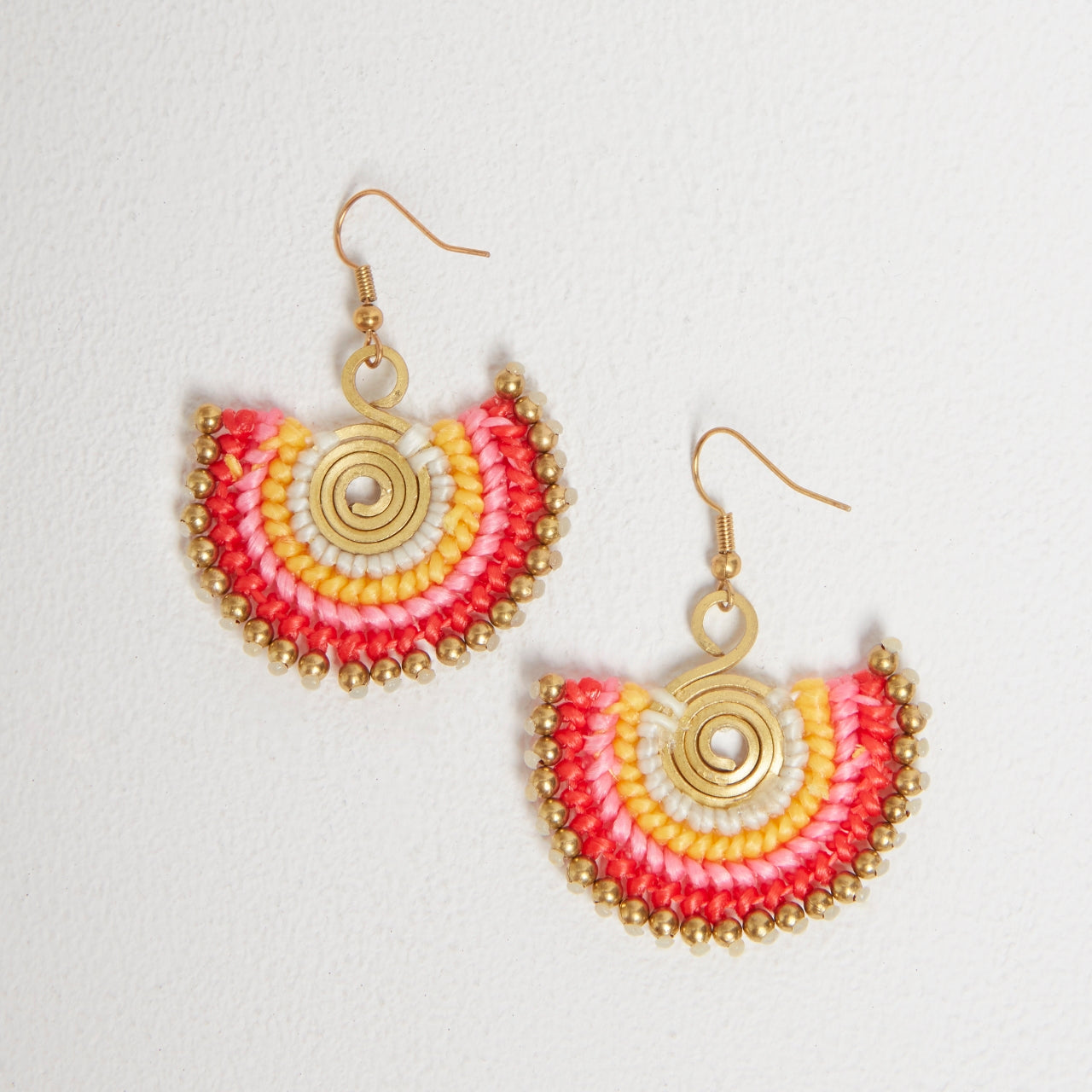 Statement Earrings in Red Mix