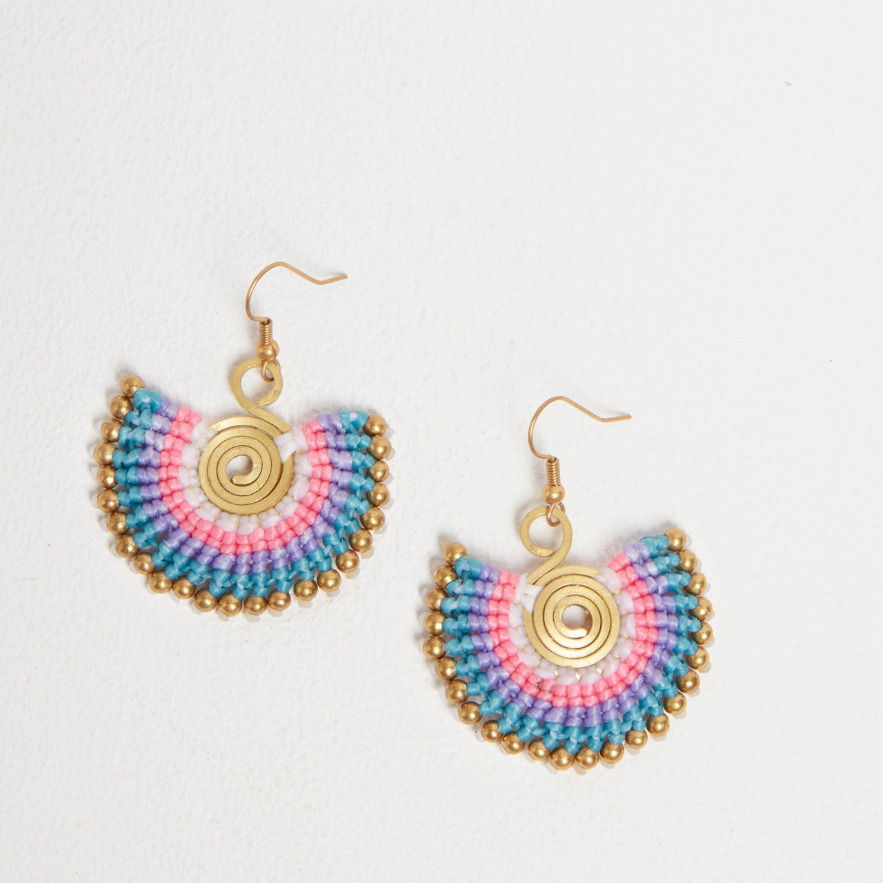 Statement Earrings in Violet Mix