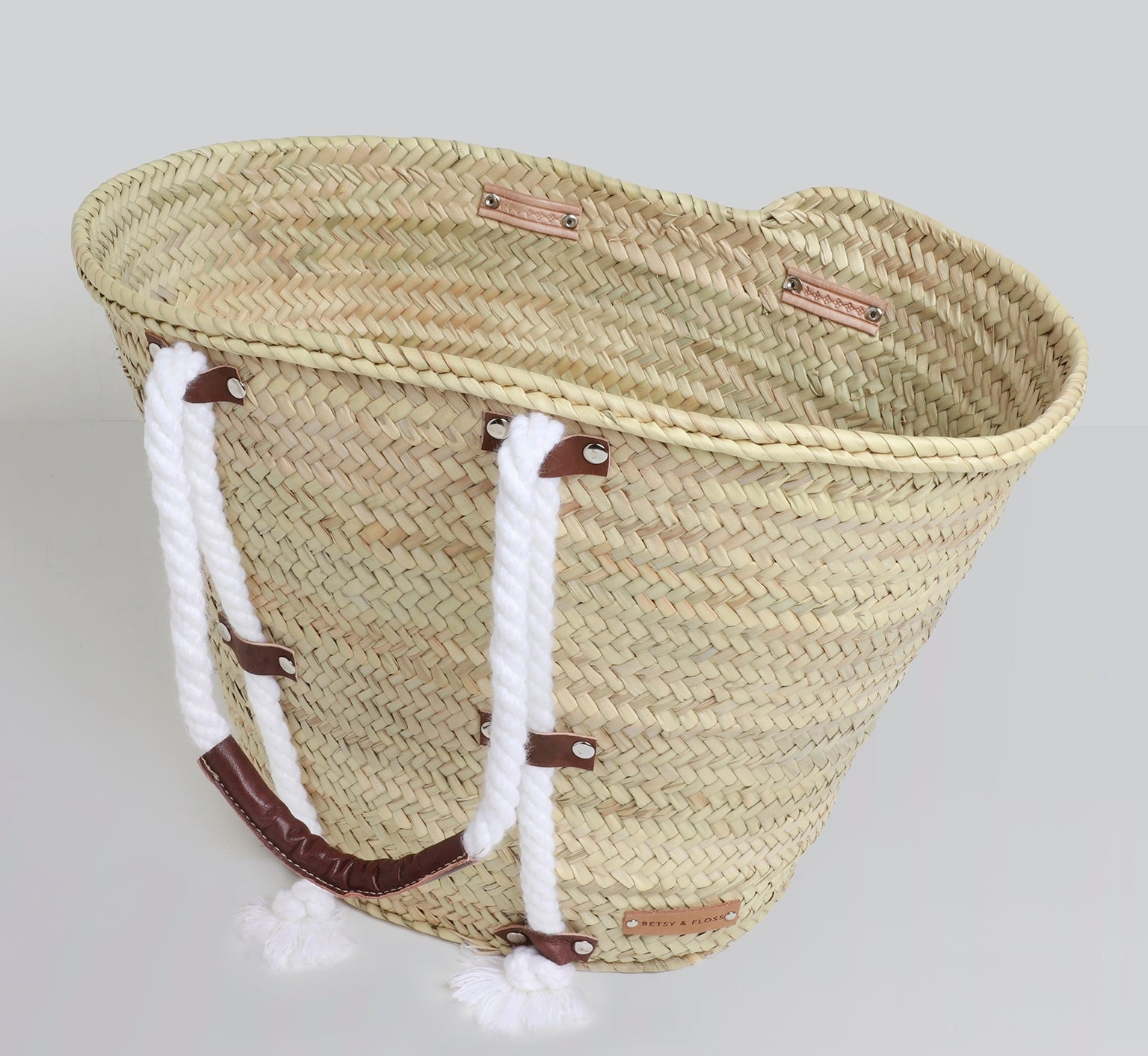 Santa Cruz Rope Handle Basket Bag | Betsy & Floss